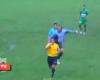 Salvaje patada por la espalda en la Copa Perú