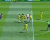 Un fuera de juego de tres metros en el Almería-Villarreal