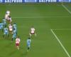 Analizamos el posible fuera de juego del primer gol del Leipzig
