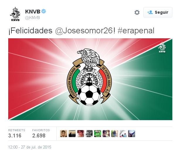 """392 tweets después, la Federación Holandesa responde: """"Era penal"""""""