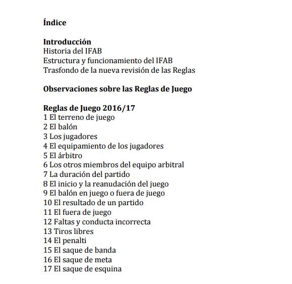 Las nuevas Reglas ya tienen traducción oficial al español