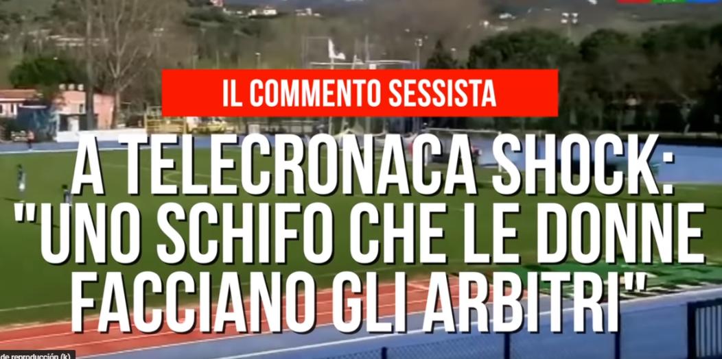 """Un periodista italiano la lía al decir que le daba """"asco"""" ver arbitrar a una muj"""